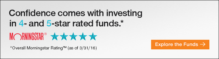 Confidence comes with investing in 4- and 5-star rated funds.